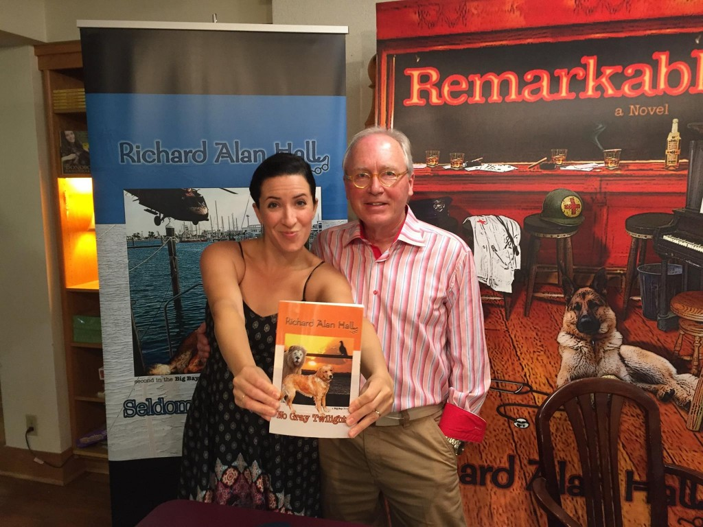 What an amazing day, the launch party for NO GRAY TWILIGHTS.. Here is a picture with singer/songwriter Miriam Younce (Picó and Chown), right before she wowed the crowd and I started signing.